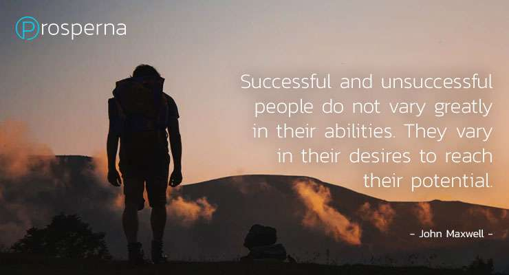 Successful and unsuccessful people do not vary greatly in their abilities – John Maxwell
