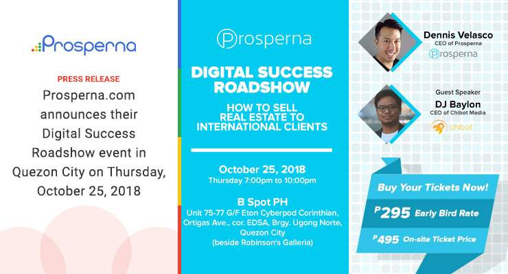 "Prosperna announces their ""Digital Success Roadshow"" event in Quezon City"