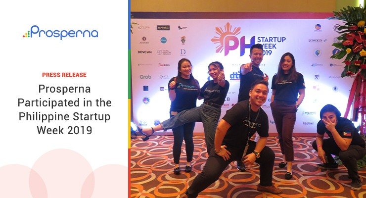 Prosperna Participated in the Philippine Startup Week 2019